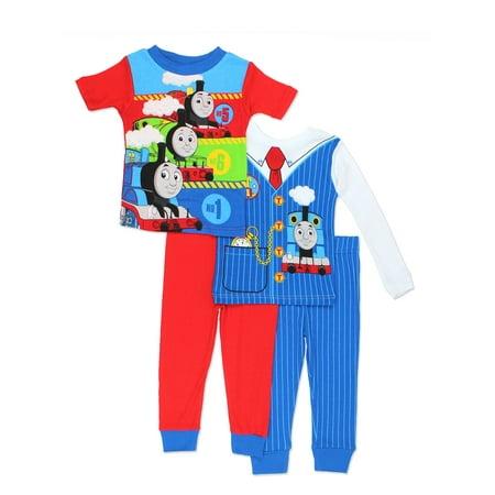 Thomas & Friends Boys 4 piece Costume Pajamas Set 21TE135ELS](Eeyore Pajama Costume)