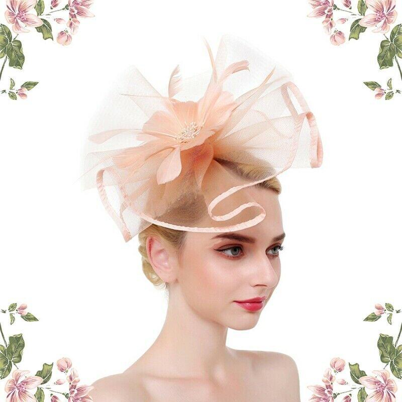 Feather /& Flower Fascinator Headband and Clip Hat Fascinator Weddings Ladies Day