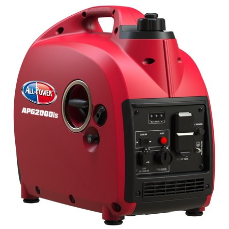 All Power 2000 Watt Portable Inverter Generator, Compact & Quiet, Gas Powered 2000W RV Generator, Parallel Function Ready,