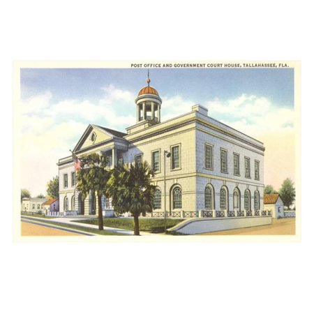 Post Office, Courthouse, Tallahassee, Florida Print Wall Art - Party City In Tallahassee Florida