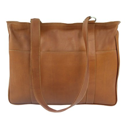 Piel Leather Small Shopping Bag - Saddle