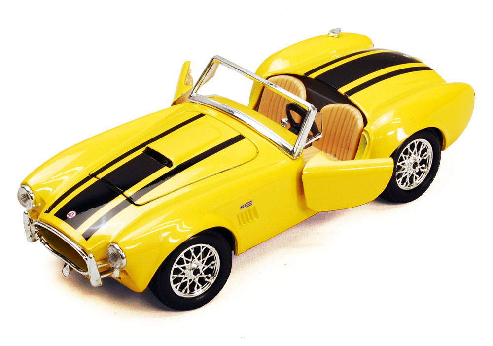1965 Shelby Cobra 427 Convertible, Yellow Maisto 34276 1 24 Scale Diecast Model Toy Car... by Maisto