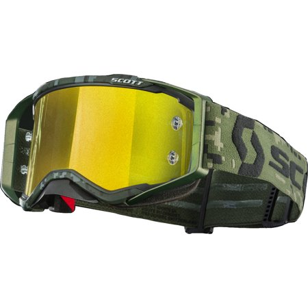 Scott Prospect Military Appreciation Goggle - Khaki Green/Yellow Chrome