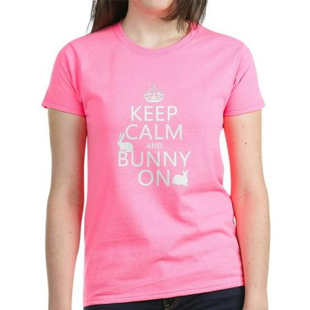 f6e897ed038 CafePress - CafePress - Keep Calm And Bunny On T-Shirt - Women s Dark  T-Shirt - Walmart.com