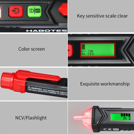 HABOTEST Portable Non-contact AC Voltage Tester Pen Shaped V~Alert Detector with Sound and Light Alarm - image 4 de 7