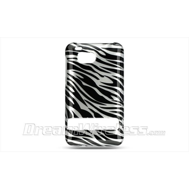 DreamWireless CAHTCINCHDSLZ Htc Thunderbolt Incredible Hd 6400 Crystal Case - Silver with Black Zebra