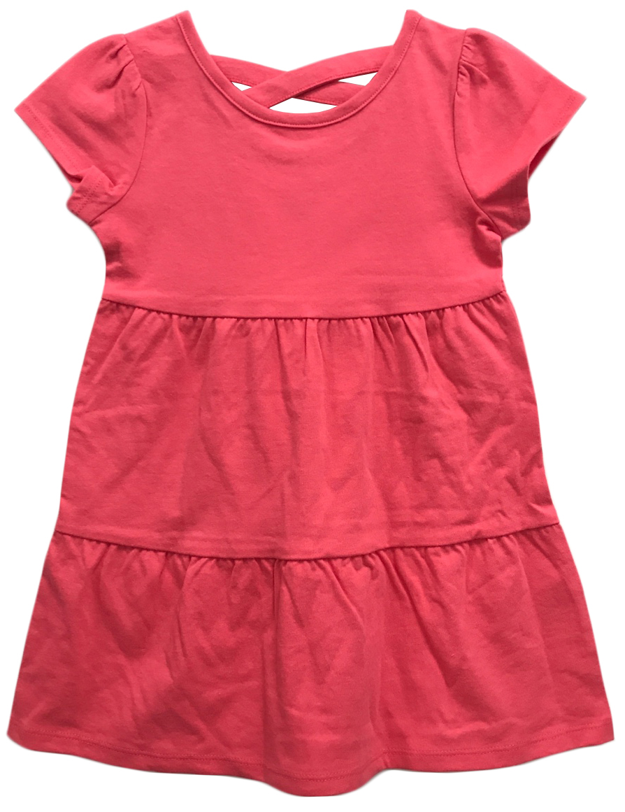 Toddler Girl Criss-Cross Back Tiered Knit Dress