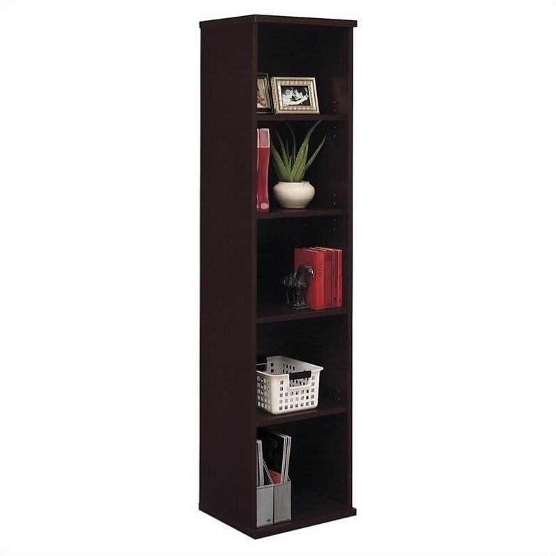 Bush BBF Series C 18W 5-Shelf Bookcase in Mocha Cherry
