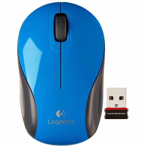 Logitech M187 Wireless Mini Mouse, Black