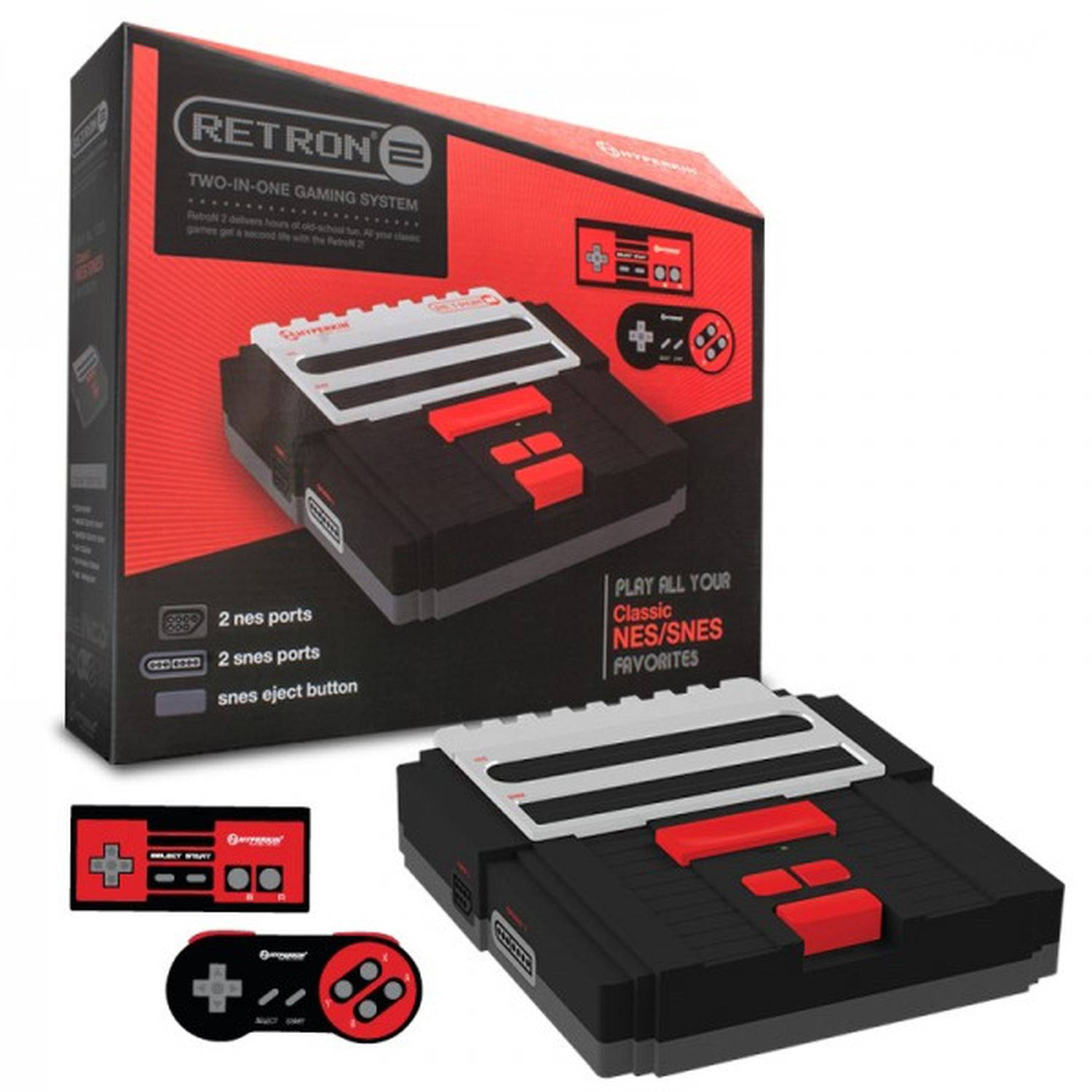 Hyperkin RetroN 2: 2-in-1 Console, Black, 4HKN01330