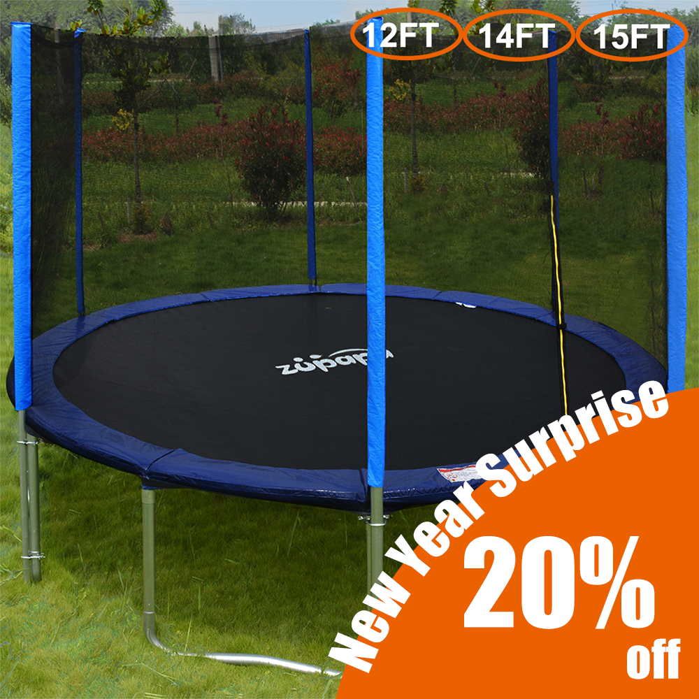 Zupapa 15' 14' 12' 10' Trampoline with Enclosure X-mas Gift Deals