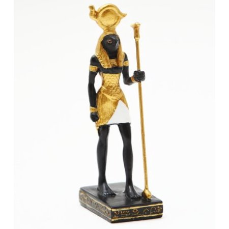 3.5 Inch Pewter Statue - 3.5 Inch Small Horus Egyptian Mystical Character Statue Figurine