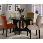 A Line Furniture Mirage Round Table / Microfiber Parson Chairs 5-piece Dining Set