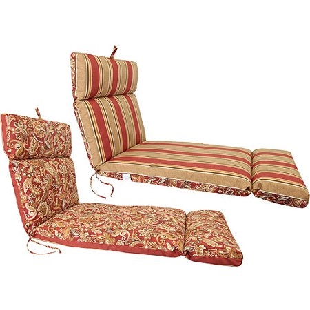 Jordan manufacturing reversible outdoor french edge chaise for 23 w outdoor cushion for chaise