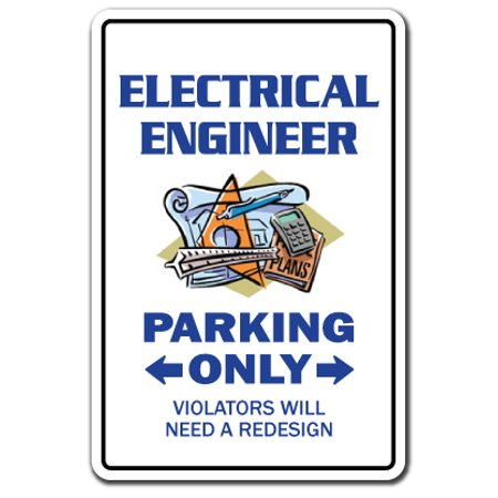 Engineering Decal (ELECTRICAL ENGINEER Parking Decal engineering tools electronics power system | Indoor/Outdoor | 7