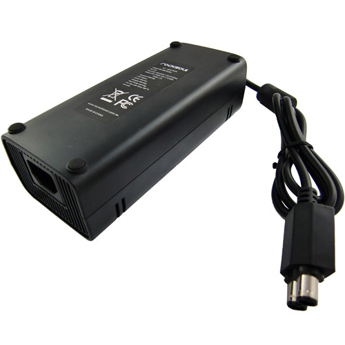 ROCKSOUL AC Power Adapter for Xbox 360, Black