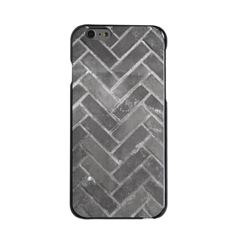 "CUSTOM Black Hard Plastic Snap-On Case for Apple iPhone 6 PLUS / 6S PLUS (5.5"" Screen) - Herringbone Brick Floor"