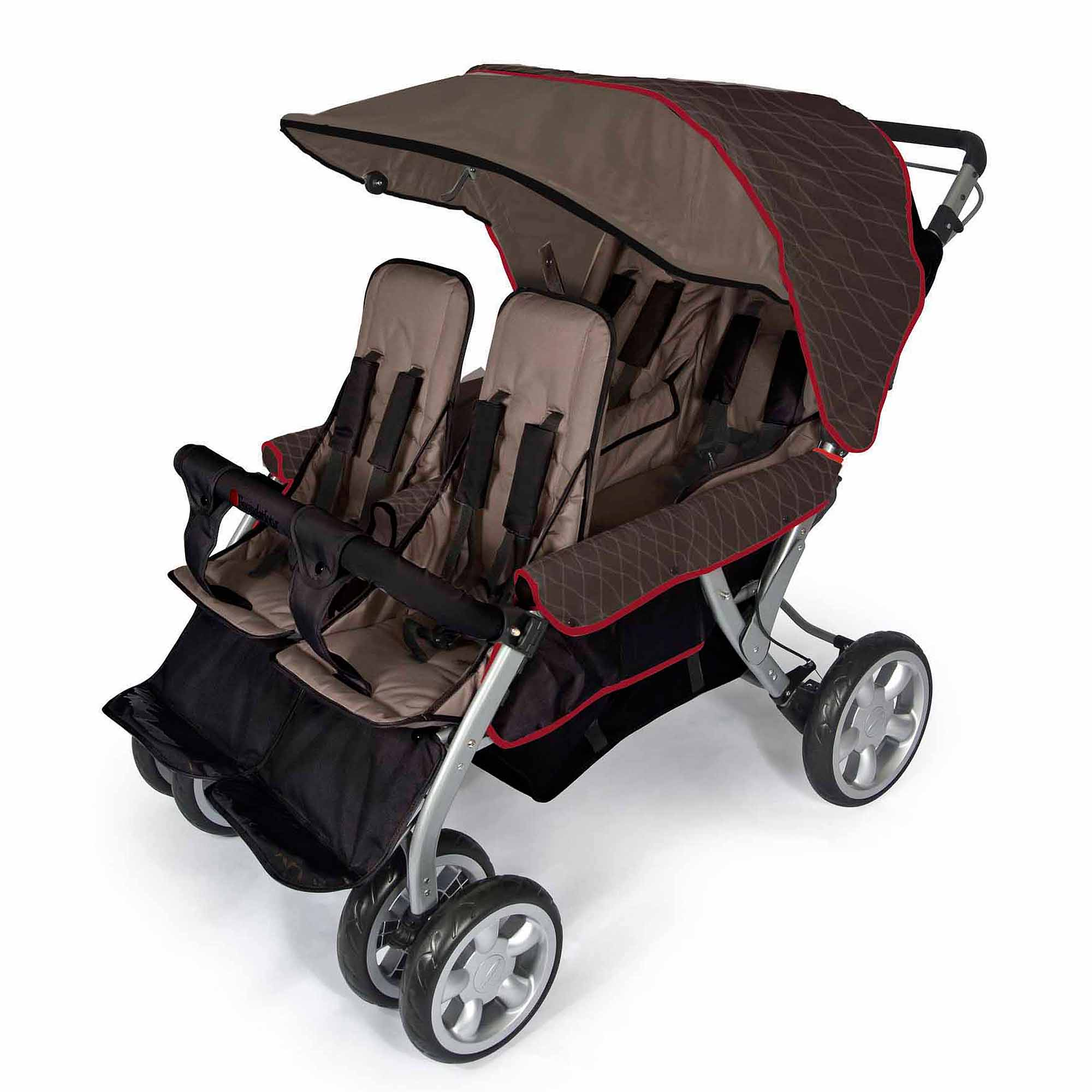 Foundations LX4 4-Passenger Stroller, Earthscape