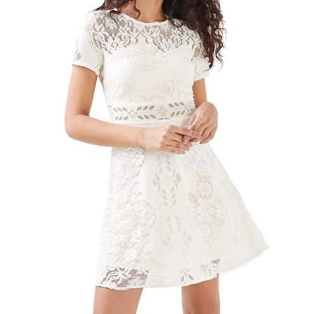 (TopShop Illusion Floral-Lace Women's A-Line Dress)