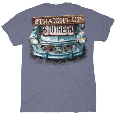 Straight Up Southern Rusty Front Men's Short Sleeve T-shirt-Heather Indigo-small ()