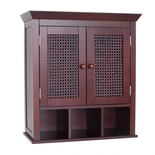 Elegant Home Fashions Cane 22.5'' x 24'' Wall Mounted Cabinet