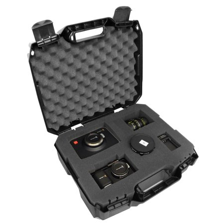 Canon Zoom Lens Tv - CASEMATIX RUGGED Video Equipment Hard Case Holds DSLR , Camcorder , Portable Audio Recorder , Microphone and More - Protects Canon, Nikon, SONY, TASCAM, Zoom , Rode, Shure , Sennheiser and More
