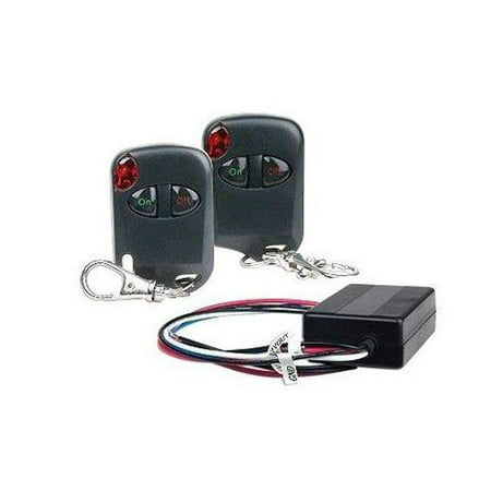 Logisys RM01 Wireless Remote Control 12VDC On/Off Kit w/ Two Remote Control Keychains (12 Vdc Remote Control)