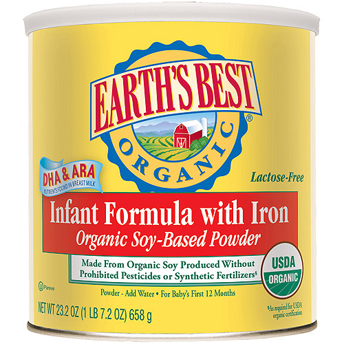 Earth's Best Organic Soy Canned Powder Formula with Iron, 23.2 oz