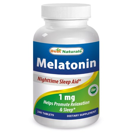 Best Naturals Melatonin 1mg 240 Tabs - Fast Dissolved for early effectiveness - Helps Promote Relaxation and Sleep - Wake up Refreshed and (Benefits Of Sleeping Early And Waking Up Early)