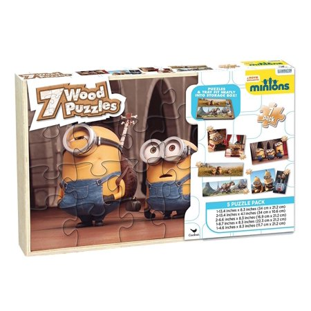 Cardinal Industries Minions Wood Puzzles with Storage Box (7