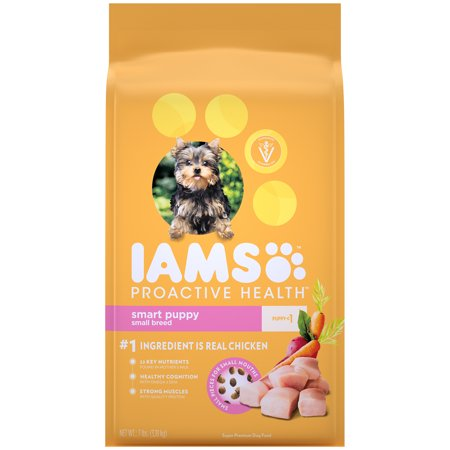 IAMS PROACTIVE HEALTH Small & Toy Breed Smart Puppy Dry Dog Food Chicken, 7 lb. (Best Puppy Food For Toy Breeds)