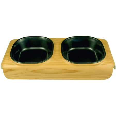 Catit Food Dish - Catit Design Faux Wood Diner