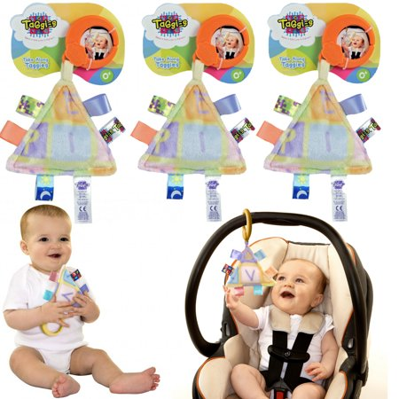 Taggies 3 Take-Along Baby Toys Interactive Stroller 0-3 Years Stroller Car