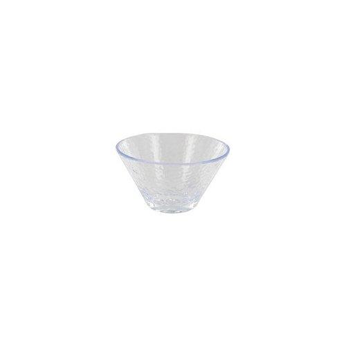 Arrow Plastic Mfg. Co. 4.5'' Hammered Plastic Dessert Bowl in Clear
