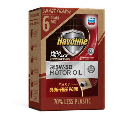 Havoline SMART CHANGE® High Mileage SB Motor Oil 5W-30, (Best Motor Oil For High Mileage)