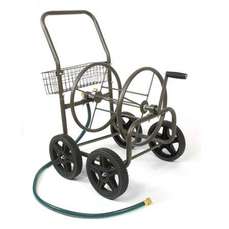 Commercial Grade Hose Cart (Liberty 4-Wheel Hose Cart, Bronze )