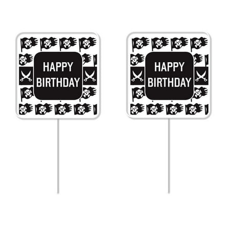 Toys Cupcake - Pirate Happy Birthday Cupcake Picks – 12 Pack