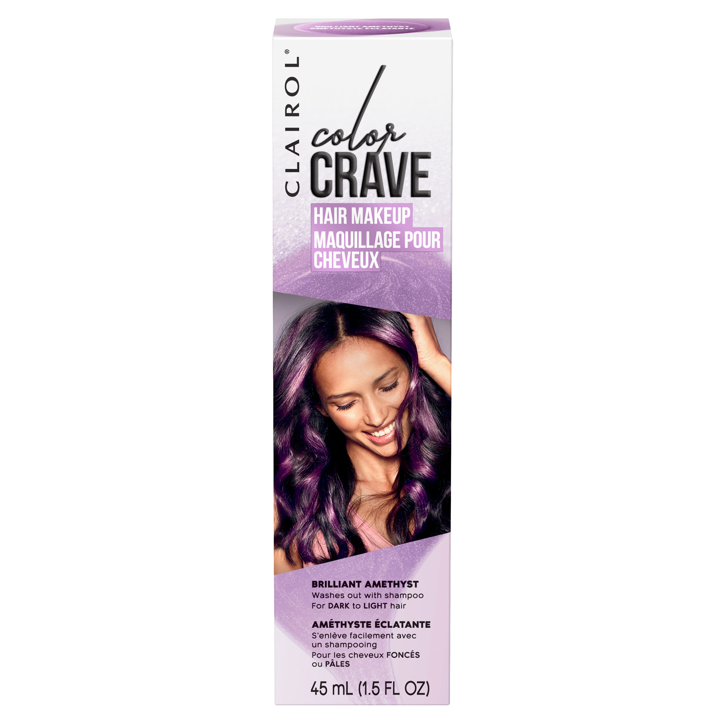 Clairol Color Crave Temporary Hair Color Make-up, Brilliant Ruby, 1.5 fl oz