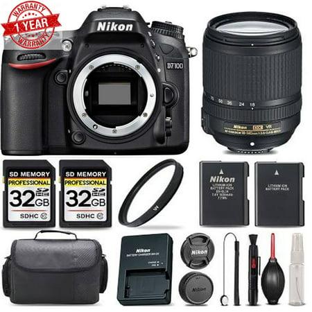 Nikon D7100 Digital SLR Camera 24.1MP with 18-140mm | Ultra Savings Bundle! NIKD71001814KKA