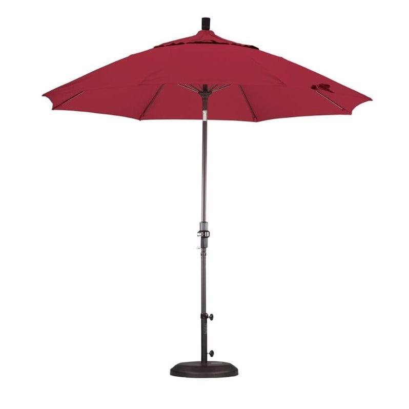 California Umbrella 9' Market Patio Umbrella in Jockey Red