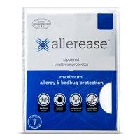 AllerEase Maximum Waterproof, Allergy and Bedbug Zippered Mattress Protector