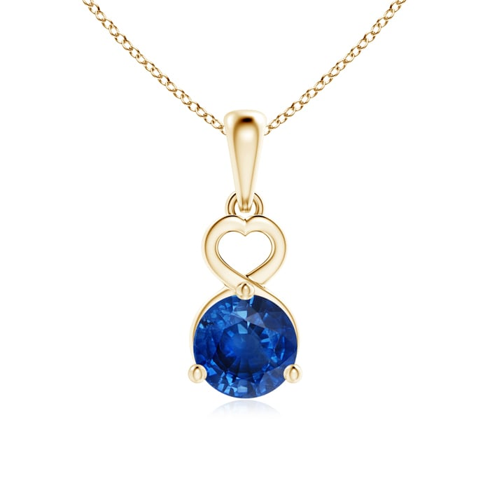 Angara Sapphire Drop Necklace in Yellow Gold cmJ7G