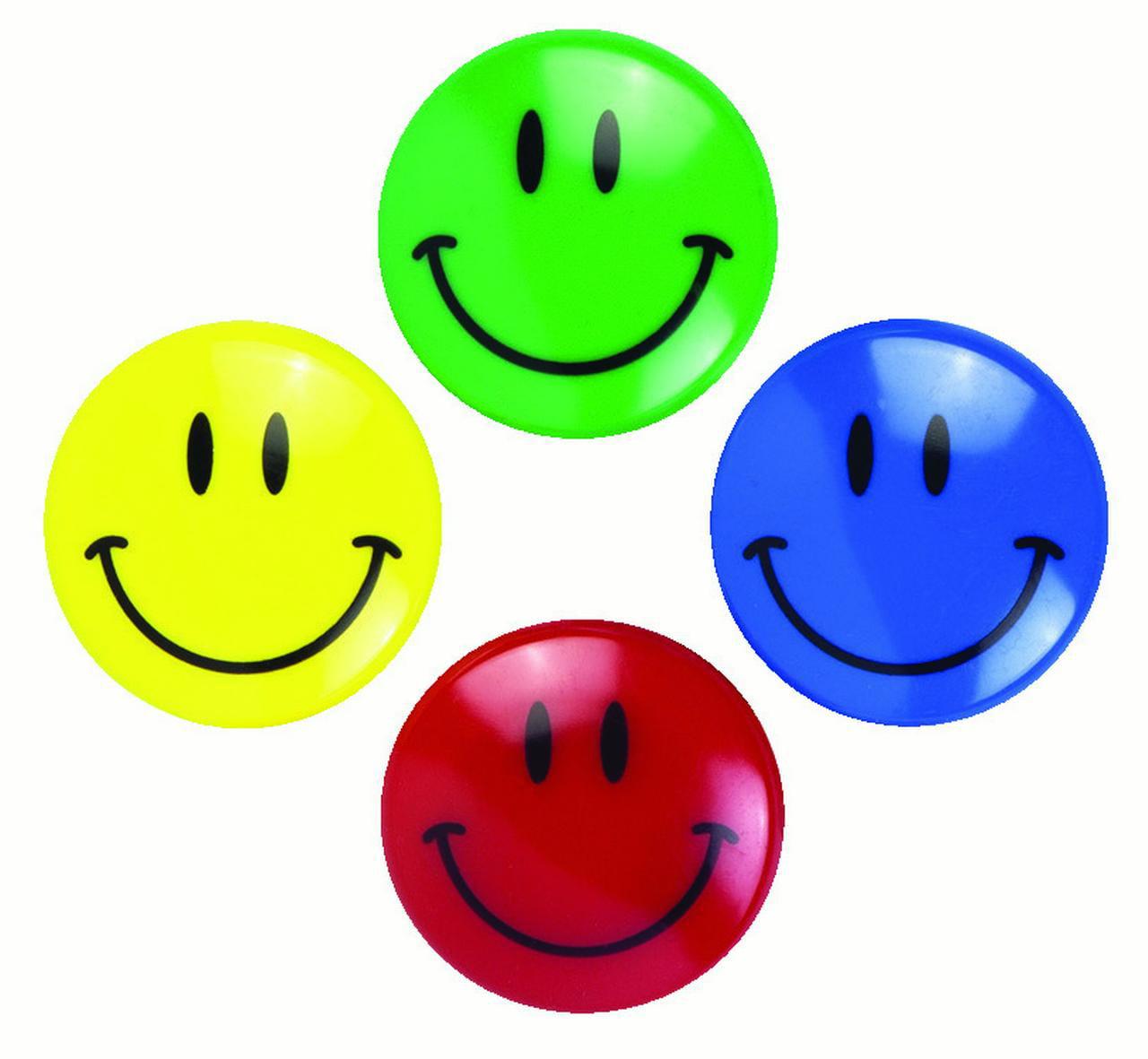 Baumgartens Smiley Face Magnet, Assorted Color, Pack of 2
