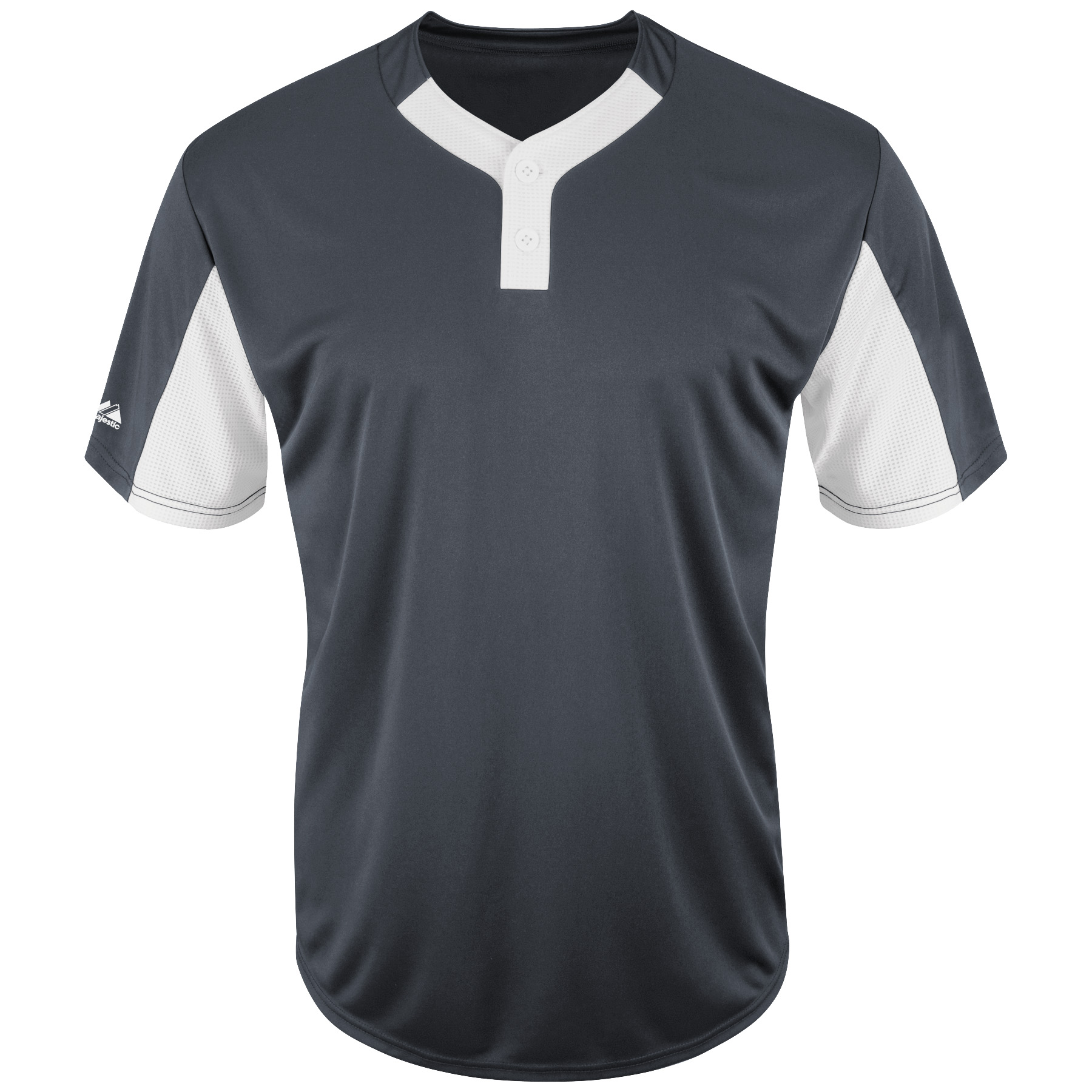 Majestic Youth Premier Eagle Cool Base Two-Button Colorblocked Jersey - Charcoal