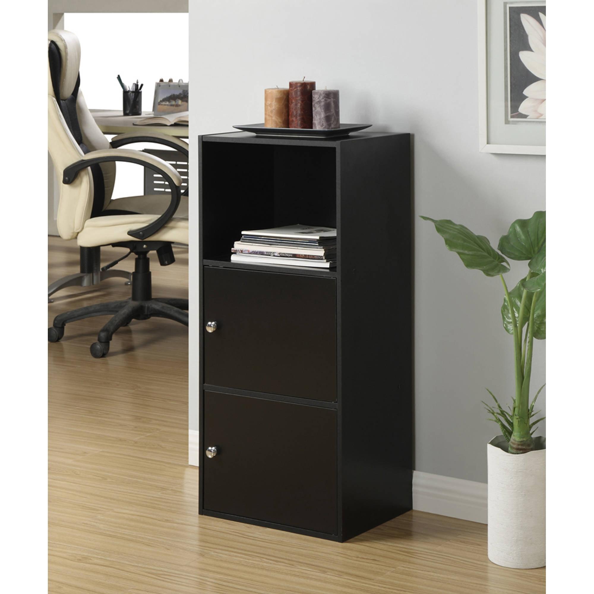 Convenience Concepts X-Tra Storage 2-Door Modular Cabinet, Black