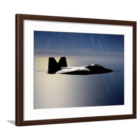 Mission File (Over California, an F/A-22 Raptor Files a Training Mission Here Framed Print Wall Art By Stocktrek Images)