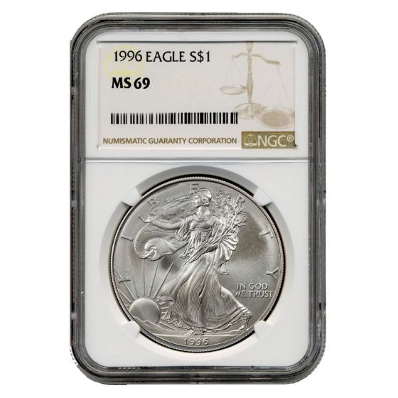 1996 American Silver Eagle NGC MS-69 1 oz Coin