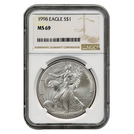 1996 American Silver Eagle NGC MS-69 1 oz
