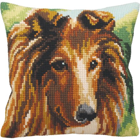 Collection D'Art Stamped Needlepoint Cushion Kit, 40cm x 40cm, Lassie