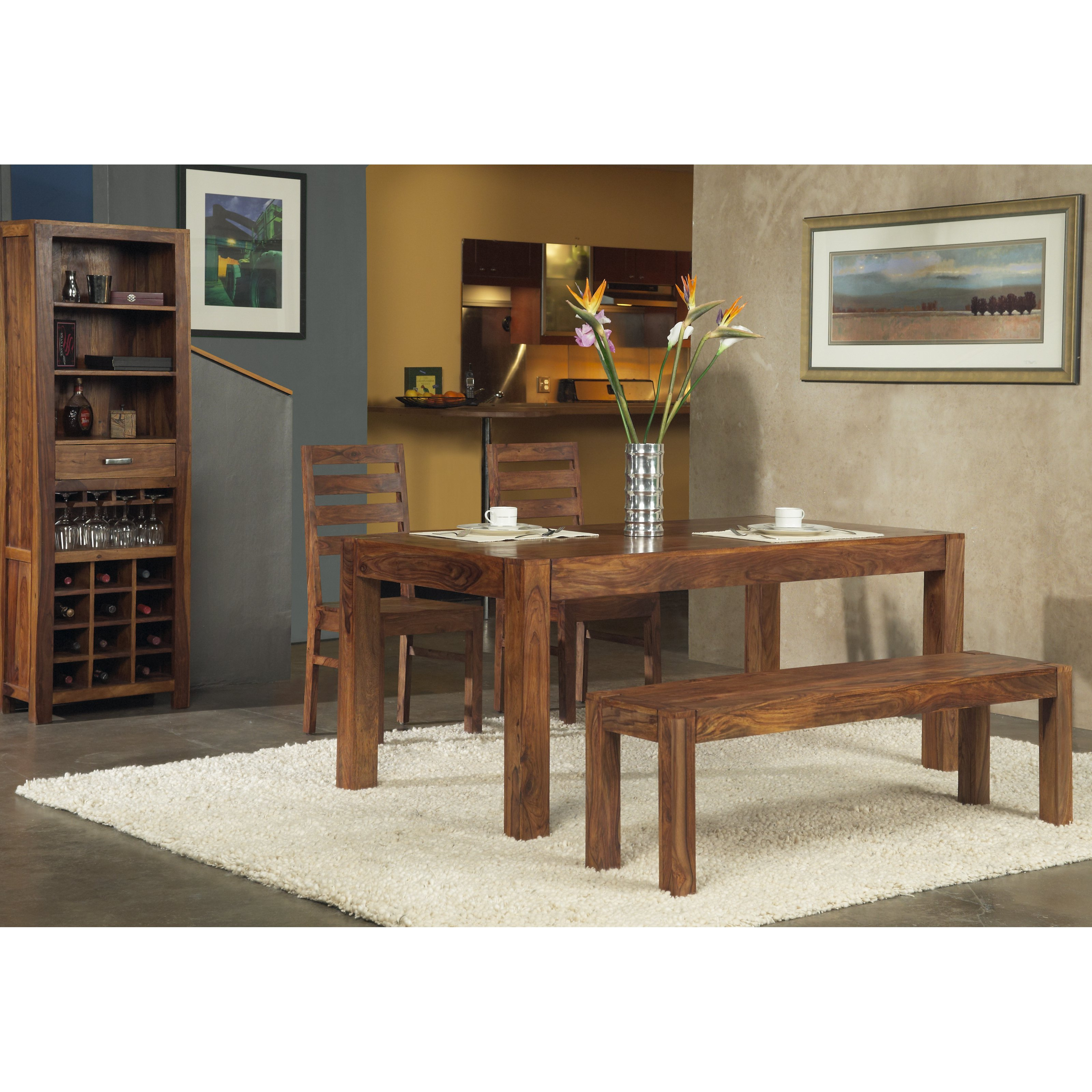 Modus Genus 4 Piece Dining Table Set with Bench by Modus Furniture International